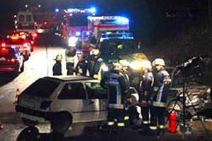 Unfall B295 8. Februar 2006, Foto Feuerwehr Weilimdorf