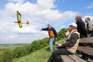Modellsegelflieger am Grünen Heiner