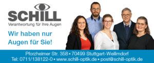 Werbebanner Augenoptik Schill