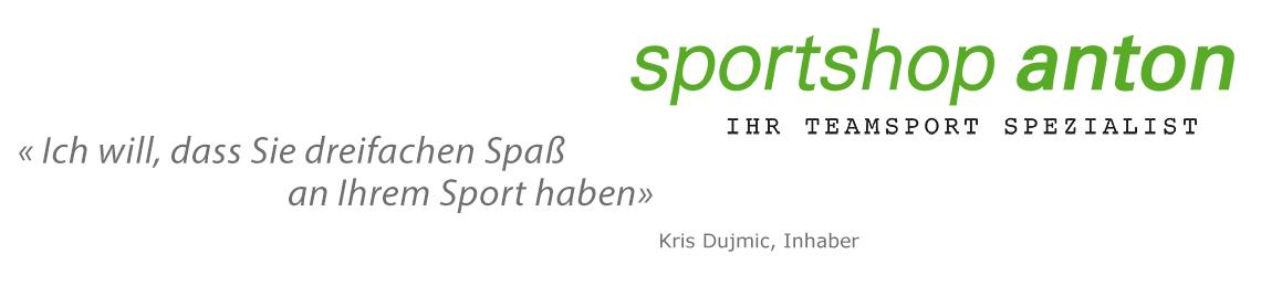 Sportshop Anton Slogan