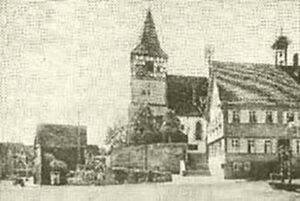 die Oswaldkirche, Bild aus dem Archiv des Weilimdorfer Heimatkreis