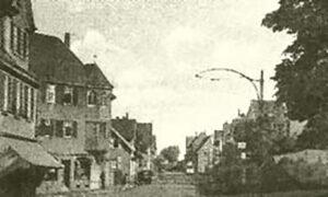 die Pforzheimer Straße, Bild aus dem Archiv des Weilimdorfer Heimatkreis
