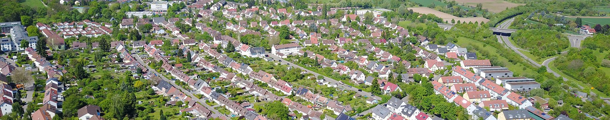 Luftbild Weilimdorf Wolfbusch. Foto © Hans-Martin Goede