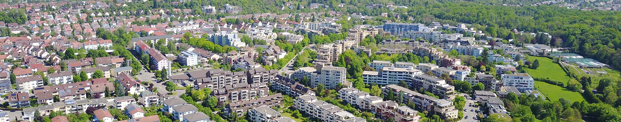 Luftbild Weilimdorf Pfaffenäcker. Foto © Hans-Martin Goede