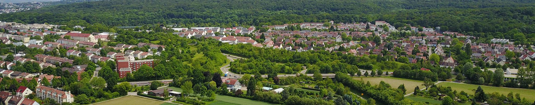 Luftbild Weilimdorf Wolfbusch B295. Foto © Hans-Martin Goede