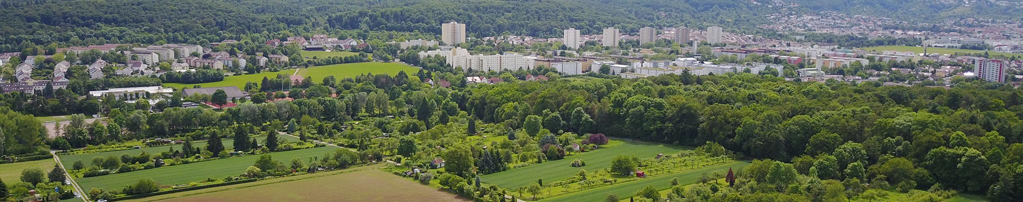 Luftbild Weilimdorf Fasanenwäldchen. Foto © Hans-Martin Goede