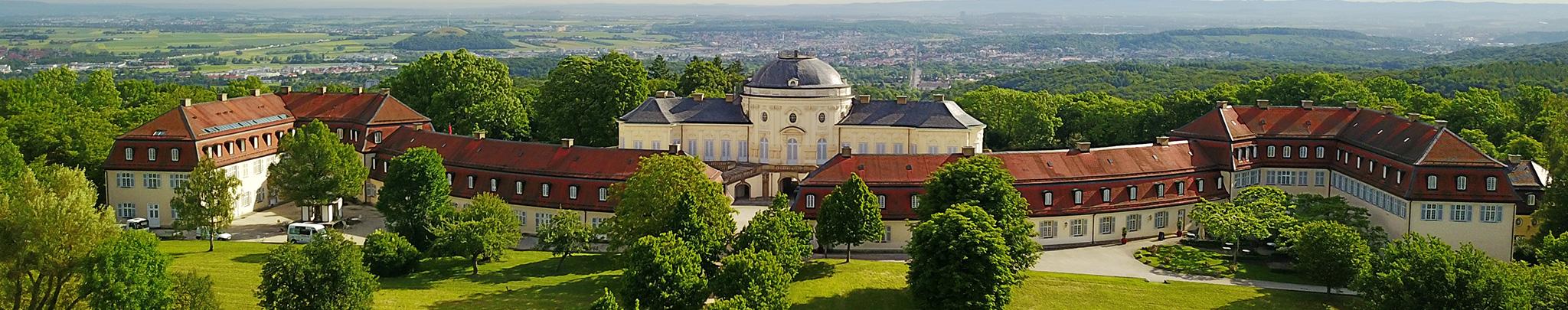 Luftbild Weilimdorf Schloss Solitude. Foto © Hans-Martin Goede