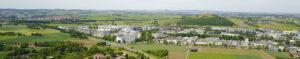 Luftbild Weilimdorf Gewerbegebiete und Grüner Heiner. Foto © Hans-Martin Goede