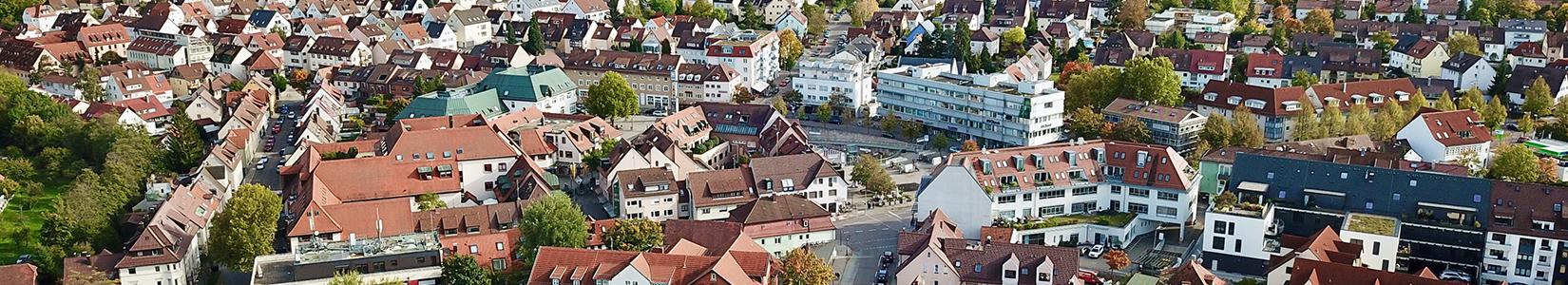 Weilimdorf heute - das Zentrum. Foto: Hans-Martin Goede