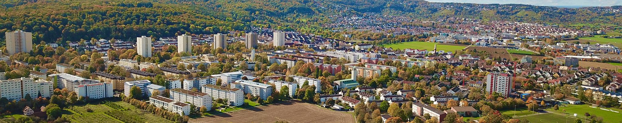 Luftbild Weilimdorf Giebel. Foto © Hans-Martin Goede