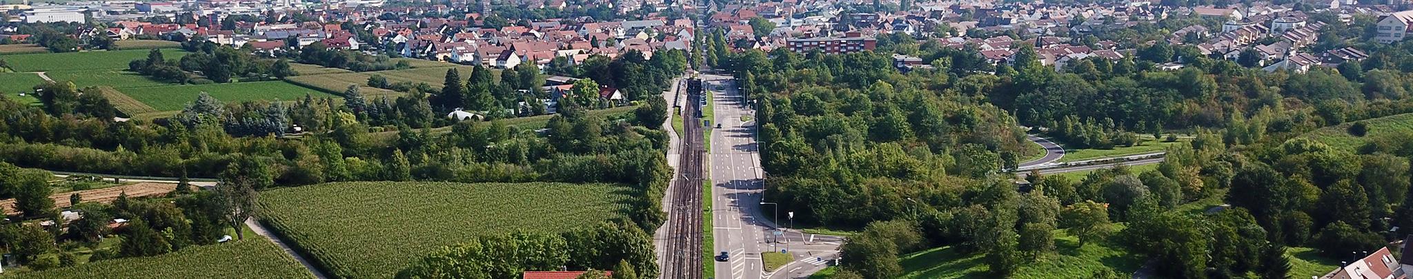 Luftbild Weilimdorf Solitudestraße. Foto © Hans-Martin Goede