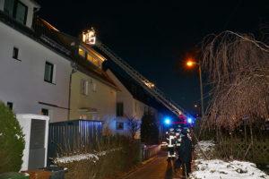 Kaminbrand im Rebhuhnweg. Foto: Andreas Rometsch
