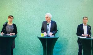 Landtagskandidat Oliver Hildenbrand stellt Grünen-Wahlkampagne vor