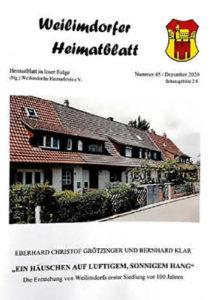 Cover Heimatblatt Nr. 45, Heimatkreis