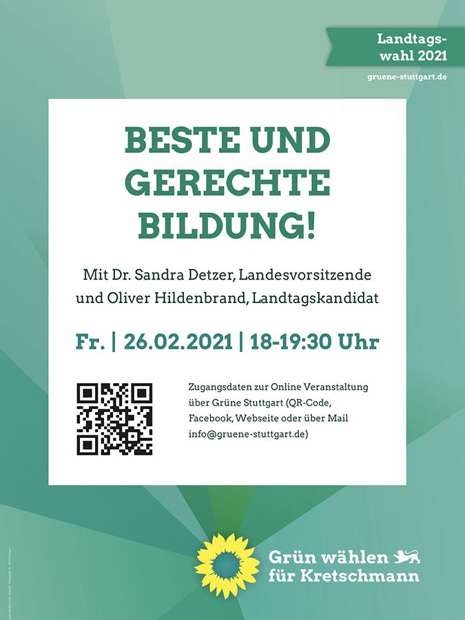 Online-Veranstaltung des Ortsverbandes Weilimdorf von BÜNDNIS 90/DIE GRÜNEN