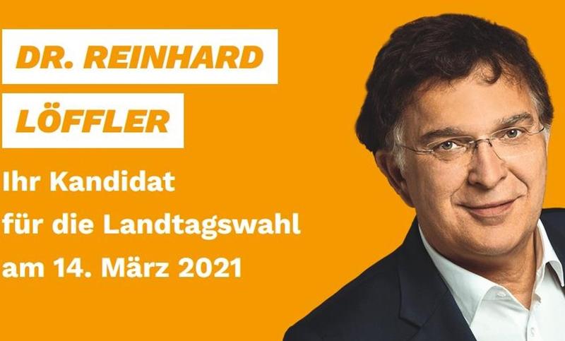 Wahlplakat CDU Dr. Löffler 2021