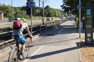 """Stuttgart fährt Rad - in Weilimdorf wird der Radverkehr seit 2020 """"gezählt"""". Foto: Goede"""