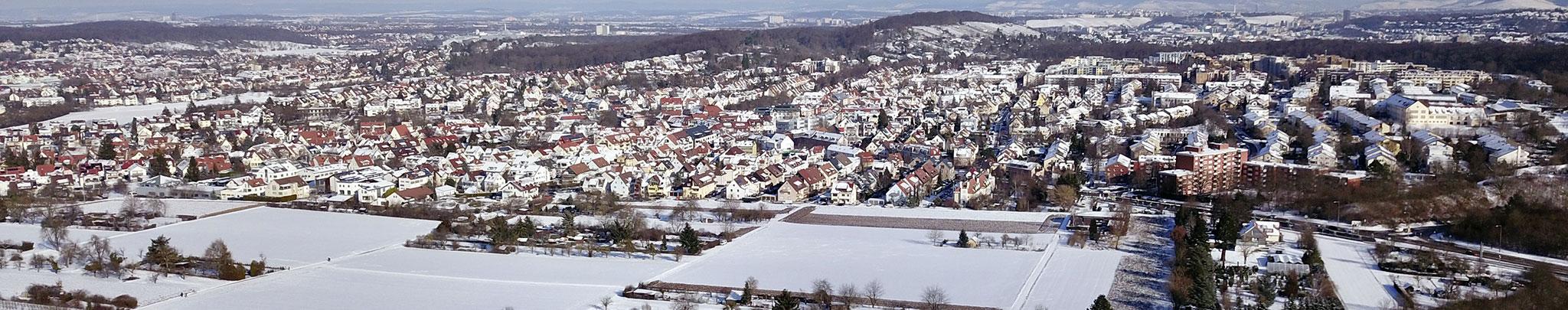 Weilimdorf im Februar 2021, Foto © Hans-Martin Goede