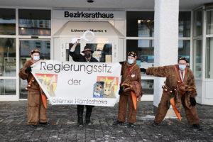 Rathaussturm der Hörnleshasa 2021 in Weilimdorf. Foto: GOEDE