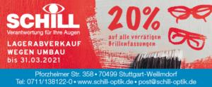 Optik Schill Aktionsbanner 2021