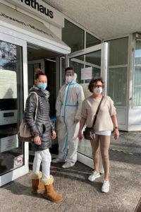 Coronatests im Bezirksamt in Weilimdorf. Foto: Diemer