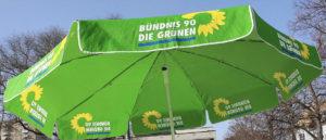 Standschirm der Bündnis 90 / GRÜNE - Wahlkampf