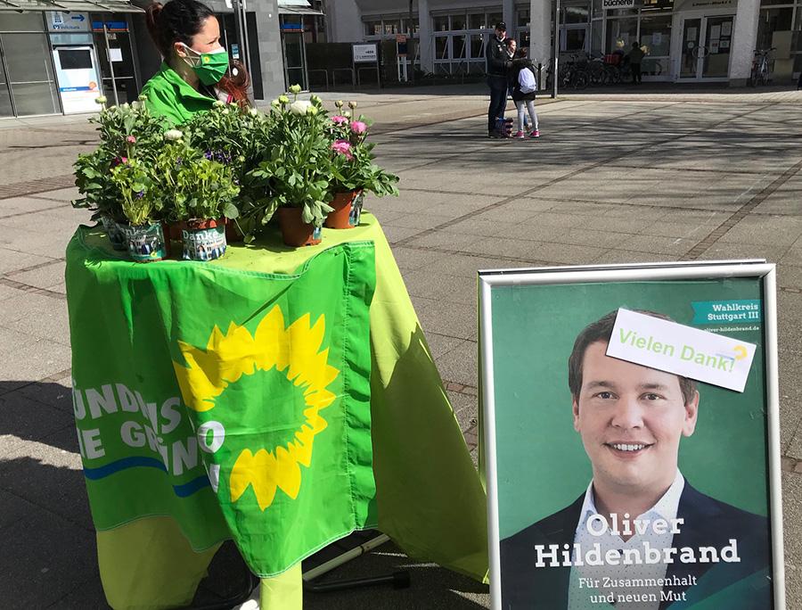 """Weilimdorfs Grüne machen mit bei """"Blumen-Danke-Aktion"""""""