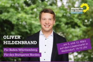 Grünen-Landtagskandidat Hildenbrand vor Ort in Weilimdorf