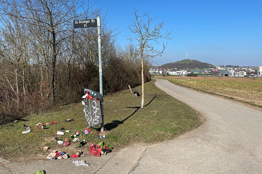 Vermüllung rund um Weilimdorf. Foto: Goede