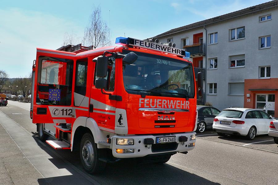 Einsatzfahrzeug Feuerwehr, Foto: Andreas Rometsch