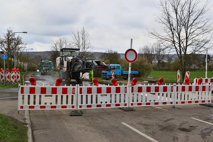 Sanierung der Gerlinger Straße. Foto: Andreas Rometsch