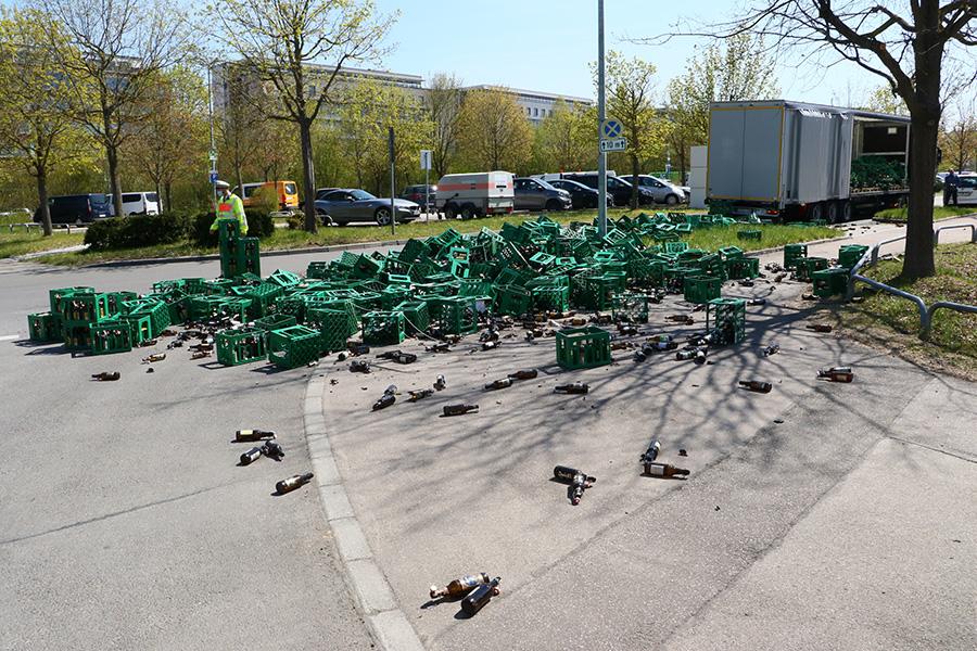 Getränkeladung verloren. Foto: Rometsch