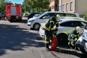 Rauchentwicklung Car2Go. Foto: Rometsch