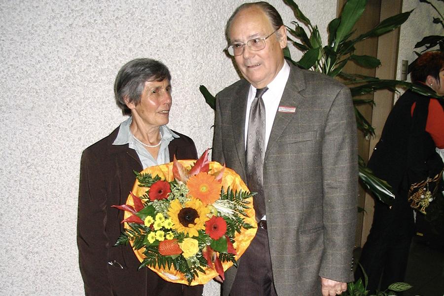 Heiner Obermeier beim Ehrensamtsempfang am 10. Oktober 2008 im Bezirksamt, Foto: GOEDE