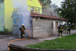 Brand am Jugendhaus Weilimdorf. Foto © Andreas Rometsch