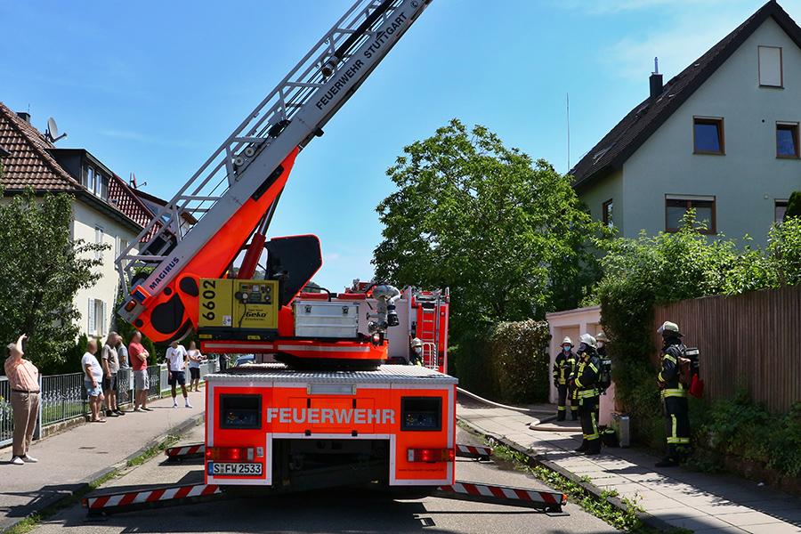 Brand 3 in der Lindenbachstr., Foto: Rometsch