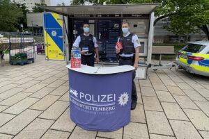 Präventionsstand der Polizei im Giebel