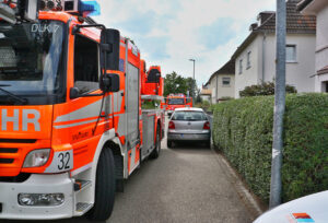 Falschparker in der Pforzheimer Straße verhinderte Einsatz, Foto Rometsch