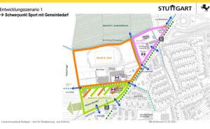 Entwicklungsszenario Walz-Areal Weilimdorf, © Stadt Stuttgart