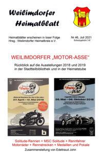 """Heimatblatt Nr. 46 """"Weilimdorfer Motor-Asse"""""""