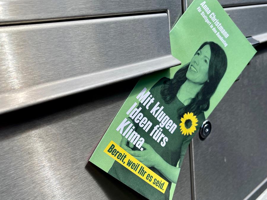 Flyer Grüne Bundestagswahlkampf 2021