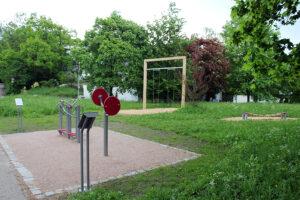 Sportgeräte am Lindenbachsee, Foto: Goede