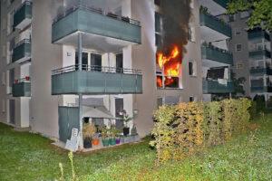 Wohnungsbrand Giebel, Foto: Andreas Rometsch