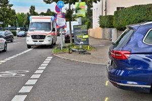 Unfall beim Abbiegen mit Radfahrer. Foto: Andreas Rometsch