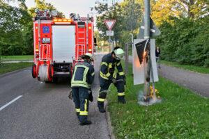 Brand Wahlplakat - Foto: Andreas Rometsch