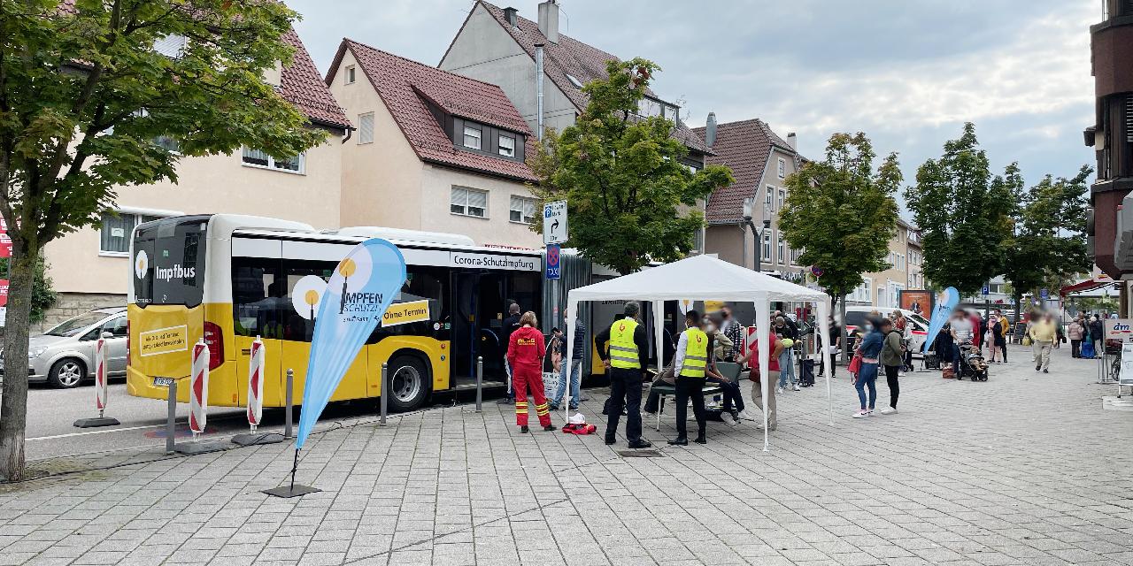 Corona Spritztour in Weilimdorf, Foto: GOEDE